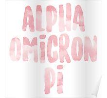 Alpha Omicron Pi Poster