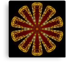 Red Gold Kaleidoscope 01 Canvas Print
