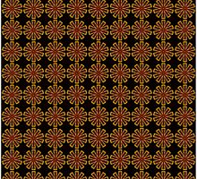 Red Gold Kaleidoscope 02 Throw Pillow & Tote Bag Co-ord by fantasytripp