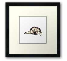 Flower Crown Pug Framed Print