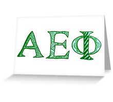 Alpha Epsilon Phi Greeting Card