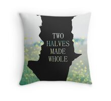 Two Halves Made Whole pillow Throw Pillow