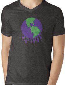 Melting Earth Mens V-Neck T-Shirt