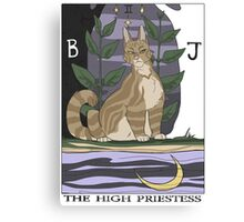 Warriors Tarot Series- The High Priestess Canvas Print