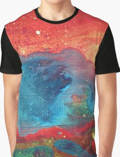 Electric Galaxy Painting Graphic T-Shirt