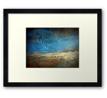 Abstract Coastal Painting PIER 50 artist holly anderson Framed Print