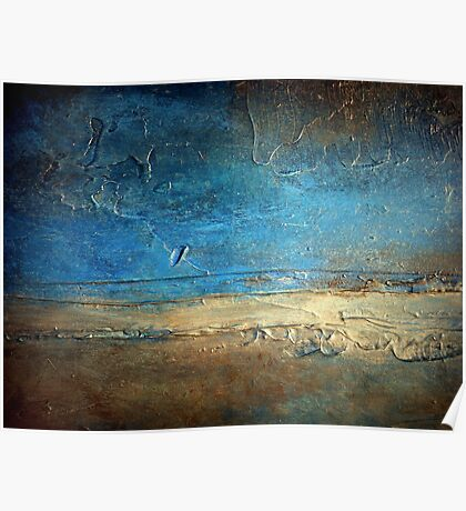 Abstract Coastal Painting PIER 50 artist holly anderson Poster