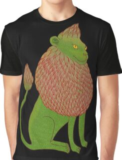 Asparagus Lion, King of the Vegetables Graphic T-Shirt