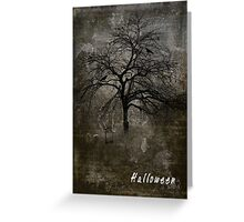 Scary Halloween Card with Ghosts and Gravestones Greeting Card