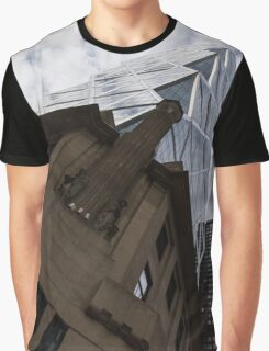 Looking Up - the Famous Hearst Tower in Midtown Manhattan, New York City, USA Graphic T-Shirt