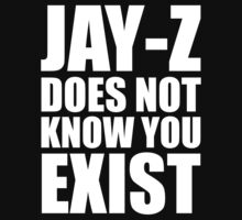 Jay-Z Does Not Know You Exist by zeephattony
