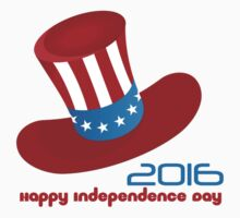 Happy Independence Day USA (Hat) Baby Tee