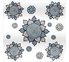 Foral pattern. Doodle art Poster