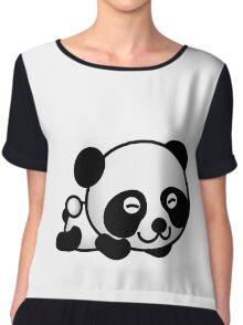 PANDA LYING DOWN Chiffon Top