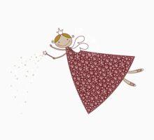 Magical Snowflakes Fairy One Piece - Short Sleeve
