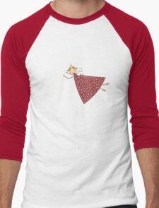 Magical Snowflakes Fairy Men's Baseball ¾ T-Shirt
