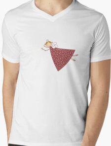 Magical Snowflakes Fairy Mens V-Neck T-Shirt