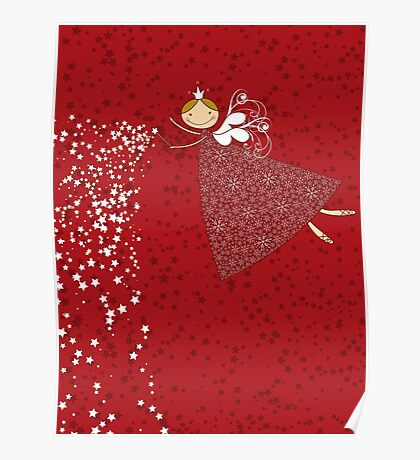 Magical Snowflakes Fairy Poster