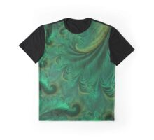 Flowing Green Drapery Graphic T-Shirt