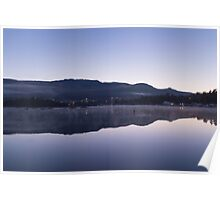 Morning over a lake of glass Poster