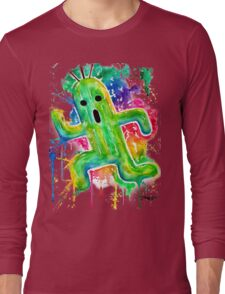 Cute Cactuar - Running Watercolor - Final fantasy - Jonny2may - Awesome!  Long Sleeve T-Shirt