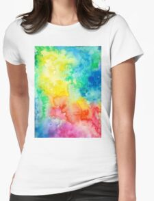 Awesome cute - Rainbow Watercolor - Tie Dye pride - T shirts + MORE! Womens Fitted T-Shirt