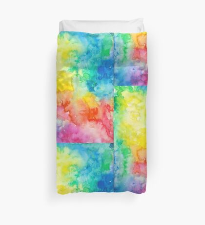 Awesome cute - Rainbow Watercolor - Tie Dye pride - T shirts + MORE! Duvet Cover