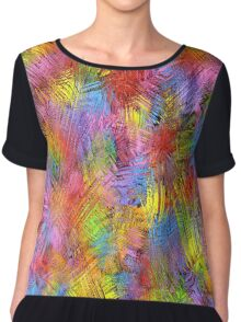 Retro Color Abstract II Chiffon Top