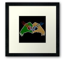 Orcs and humans Framed Print