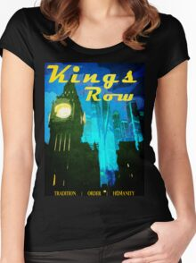 Overwatch - Vintage Travel Poster (King's Row) Women's Fitted Scoop T-Shirt