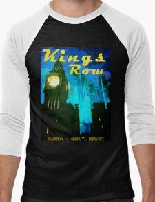 Overwatch - Vintage Travel Poster (King's Row) Men's Baseball ¾ T-Shirt