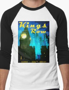 Overwatch - Vintage Travel Poster (King's Row) Men's Baseball ¾ T-Shirt