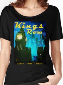 Overwatch - Vintage Travel Poster (King's Row) Women's Relaxed Fit T-Shirt