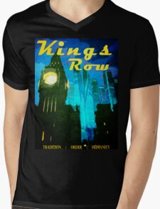 Overwatch - Vintage Travel Poster (King's Row) Mens V-Neck T-Shirt
