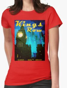 Overwatch - Vintage Travel Poster (King's Row) Womens Fitted T-Shirt