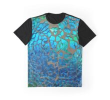 Shimmering Cracked Glass Pattern Graphic T-Shirt