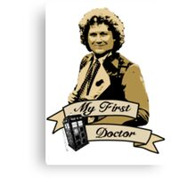 My first Doctor (Who) sixth 6th Colin Baker Canvas Print