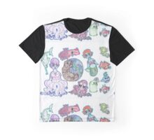 "Fanta""Sea"" creatures Pattern Graphic T-Shirt"