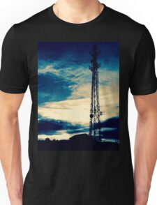 Blue Sunset Silhouette Unisex T-Shirt