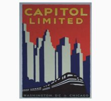 Vintage poster - Capitol Limited One Piece - Short Sleeve