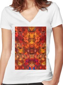 Scorched Earth. Women's Fitted V-Neck T-Shirt
