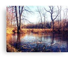Autumn River Flowing through Wisconsin Canvas Print