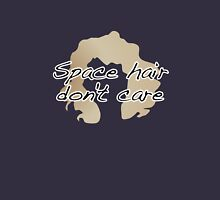 Space Hair Don't Care Womens Fitted T-Shirt