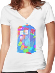 Call Box Chaos Women's Fitted V-Neck T-Shirt