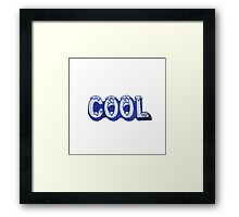 Cool Patch Framed Print