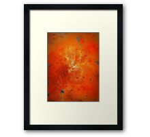 Abstract Fine Art Orange and Blue BUCKLE  Framed Print