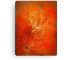 Abstract Fine Art Orange and Blue BUCKLE  Canvas Print