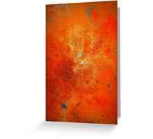 Abstract Fine Art Orange and Blue BUCKLE  Greeting Card
