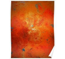Abstract Fine Art Orange and Blue BUCKLE  Poster