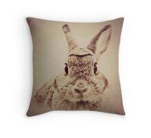 Rabbit Sketch Throw Pillow & Tote Bag Throw Pillow